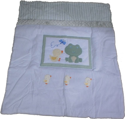 Frog And Ducks 4 Piece Baby Crib Bedding Set By Kidsline