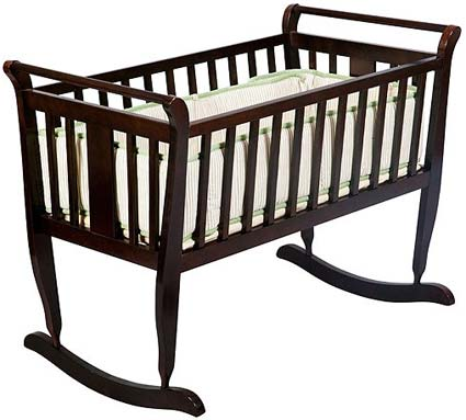 Tahoe Baby Cradle in Chocolate by Delta