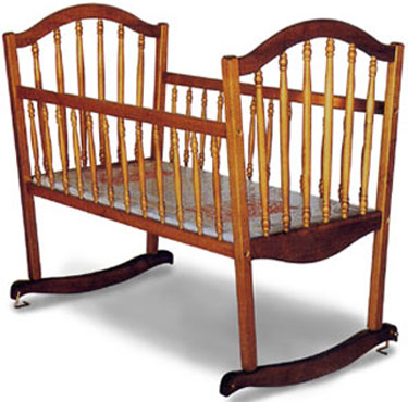 Continental Rocking Baby Cradle