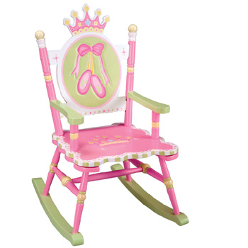 Swan Lake Girls Rocking Chair