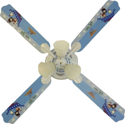 Pirate Boys Ceiling Fan With Lights Kids Ceiling Fans