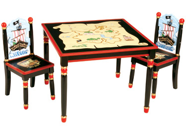 Pirate Child's Table and Chairs Set