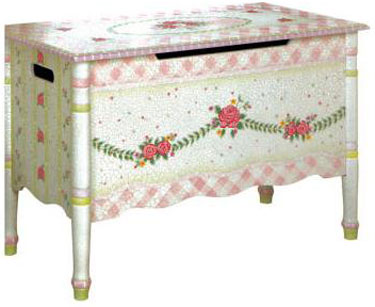 Pink Crackle Finish Toy Chest by Teamson Kids - Free Shipping