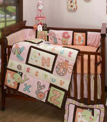 ABC & Me 4 Piece Baby Crib Bedding Set by Kimberly Grant