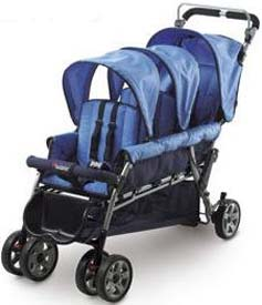 Trio Triple Baby Stroller by Foundations
