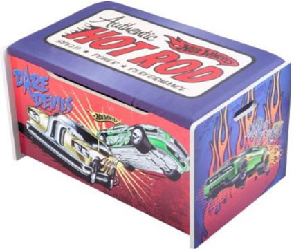 hot wheels toy box by delta childrens products toy boxes toy chests. Black Bedroom Furniture Sets. Home Design Ideas