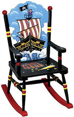 Pirate Ship Boys Rocking Chair
