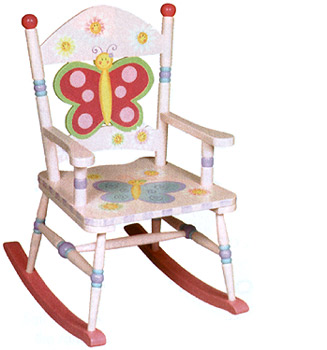 Butterfly Girls Rocking Chair