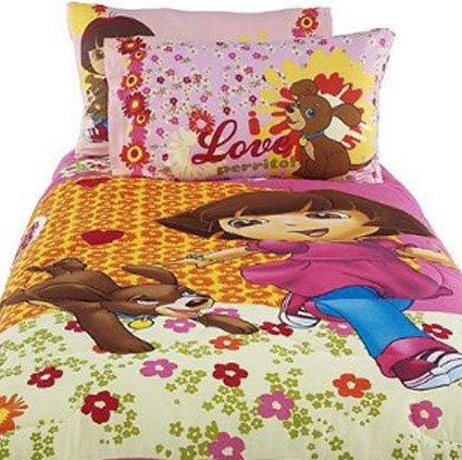 Dora And Puppy Twin Comforter