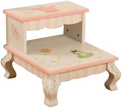 Out of Stock Princess & Frog Crown Step Stool by Teamson Kids