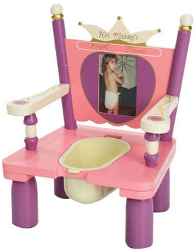 "Her Majesty's ""Princess"" Throne Potty Chair Free Shipping"