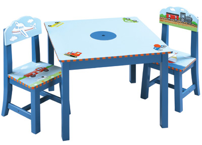 Transportation Kids Table & Chairs Set