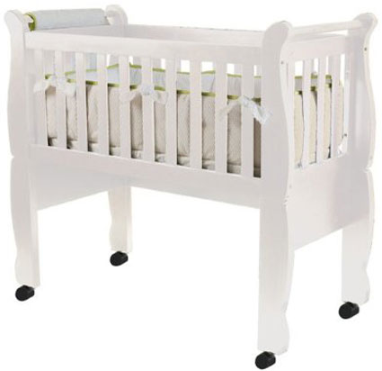 Now & Forever Convertible Cradle - White Free Shipping
