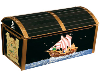 Pirate Treasure Chest Children's Toy Box
