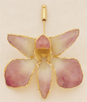 Lilac Dendrobium Orchid Pin