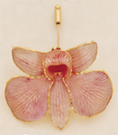 Pink Dendrobium Orchid Pin