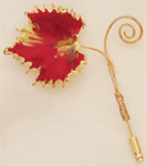 Harvest Leaf Pin in Deep Red