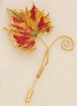 Harvest Leaf Pin in Fall Colors