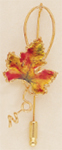 Autumn Leaf Pin in Fall Colors