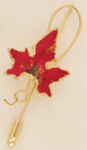 Autumn Leaf Pin in Deep Red