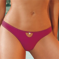 Jeweled Solid Thong