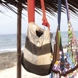 Striped Tote Bag  | Chamela 14515