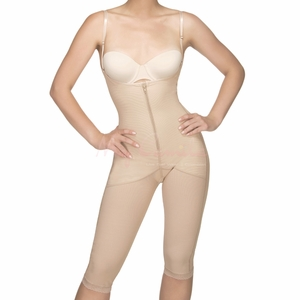 Vedette Knee Length Open Breast Bodysuit 155