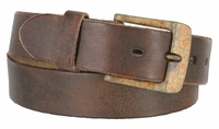 "3915 Fullerton Vintage Casual Leather Belt with Rustic Buckle - 1 1/2"" WIDE"
