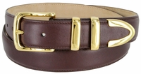 """3221  Men's Genuine Smooth Casual Dress Leather Belt - 1 1/4"""" Wide"""