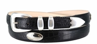 """1401 Leather Dress Belt - Up to size 60"""""""