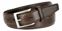 """Oil-Tanned Genuine Leather Dress Belt 1-3/8"""" Wide -  BROWN"""