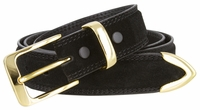 """NEW!! 3211 Suede Casual Dress Leather Belt - 1 3/8"""" wide"""