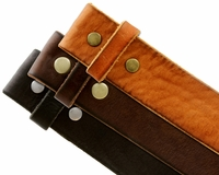 """Solid One Piece Genuine Leather Belt Strap Without Slot Hole 1-1/2"""" Wide"""