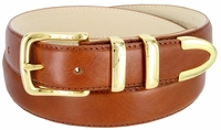 """3221 Men's Genuine Smooth Casual Dress Leather Belt - Tan 1 1/4"""" Wide"""