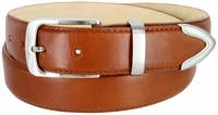 """3507 Men's Genuine Smooth Casual Dress Leather Belt - TAN 1 3/8"""" Wide"""