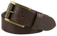 "NEW!! Made in U.S. Full Grain One Piece Leather Belt Strap - 1 1/2"" Wide BROWN"