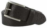 "NEW!!  3802 Made in U.S. Full Grain One Piece Leather Belt Roller Buckle - 1 1/2"" Wide BLACK"