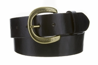 "Jazmin Vintage Casual Genuine Full Grain Leather Belt  1 1/2"" Wide"