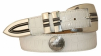 """4612 Coin Concho Lather Dress Belt - 1 3/8"""""""