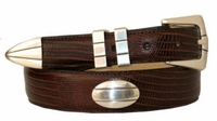 """1319 Concho Leather Dress Belt - Up to size 60"""""""
