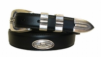 2192 Fishing Basket Concho Leather Belt