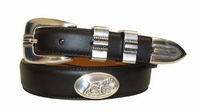2195 Dog Hunter Concho Leather Dress Belt