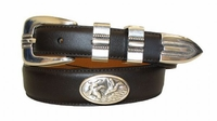 2202 Flying ducks Leather Dress Belt