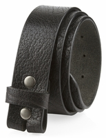 "NEW!! Made in U.S. Full Grain One Piece Leather Belt Strap - 1 1/2"" Wide BLACK"
