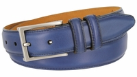 Lejon Glove Tanned Steerhide Smooth Leather Dress Belt - Blue
