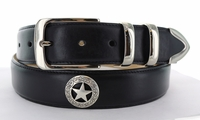 """1160 Western Smooth Leather Belt - 1 3/8"""" wide"""