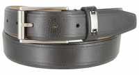 """Men's Synthetic Double Lined Edges Pebbled Leather Casual Dress Belt 1-1/4"""" Wide"""
