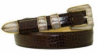 """1798 Italian Calfskin Leather Dress Belt - Available up to size 60"""""""