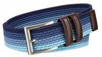"NEW!! Lee Men's Belt Casual Woven Stretch Belt - 1 3/8"" Wide - Blue Multi"