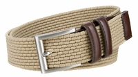 "NEW!!! Lee Men's Belts Casual Woven Stretch Belt - 1 3/8"" Wide - Khaki"